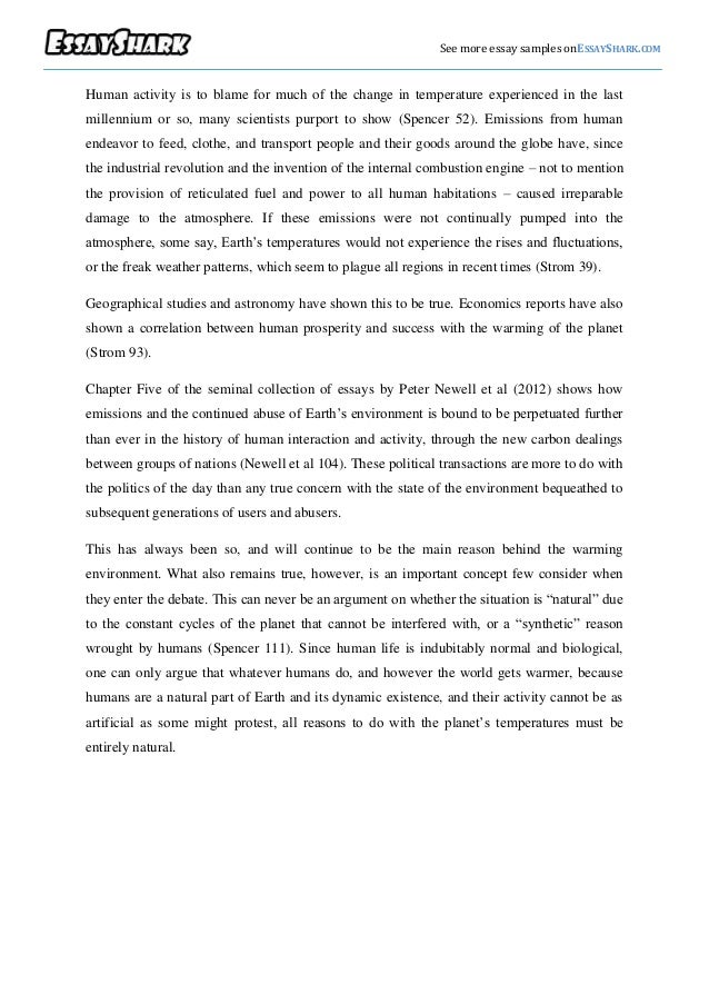 Is global climate change man made essay