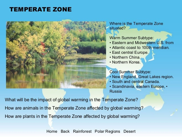 Global warming and more temperate zone altavistaventures Image collections