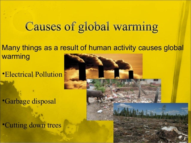 Global warming. Ecology class presentation.