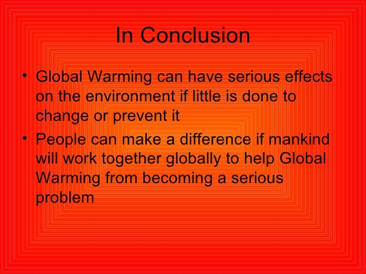 essay on global warming assignment