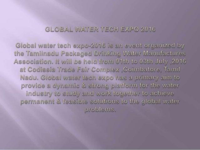 GLOBAL WATER TECH EXPO 2016 Slide 2