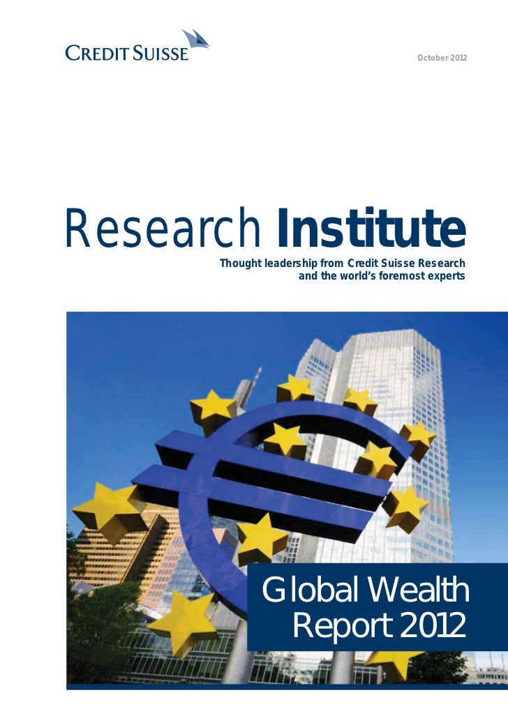 October 2012Research Institute      Thought leadership from Credit Suisse Research                    and the world's fore...