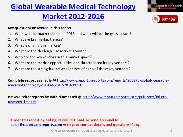Wearable Medical Technology Global Wearable...