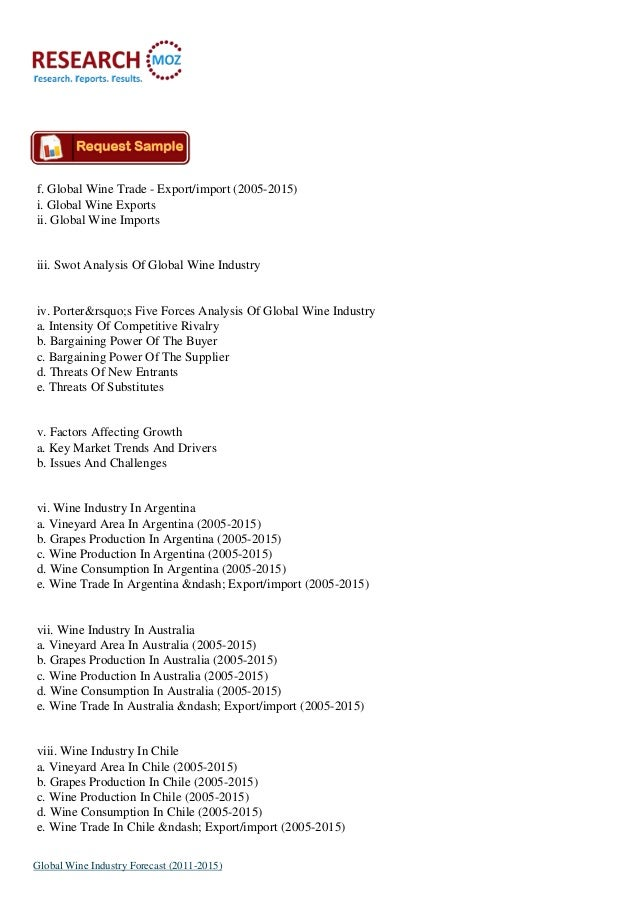 case study on global wine industry Markets to 2030: case study of australia kym anderson wine economics  the  world wine market held on 25 june 2010 at the university of california, davis.