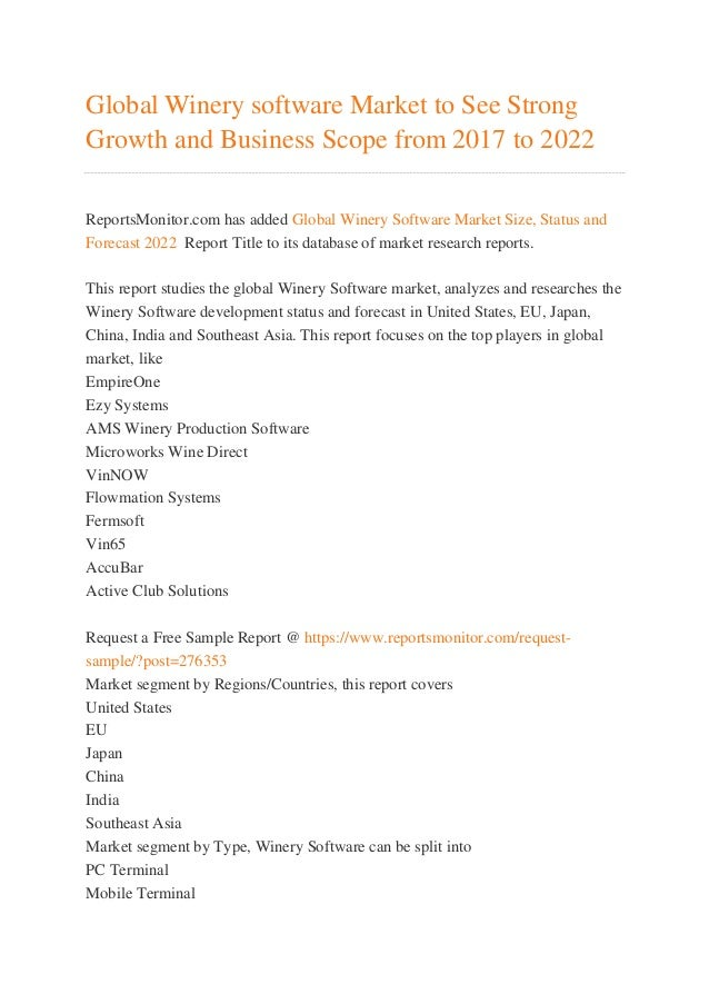 Global wine market to 2017