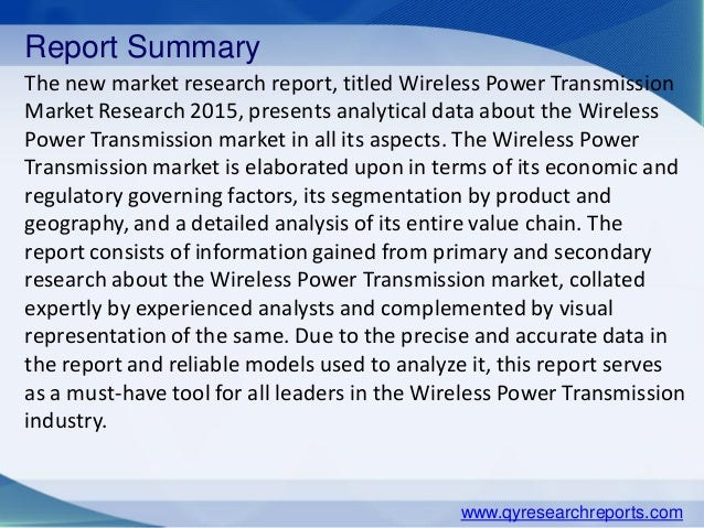 Wireless Power Transmission Market: Global Industry Analysis and Opportunity Assessment 2014 - 2020
