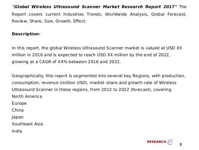 Global wireless ultrasound scanner market research report 2017