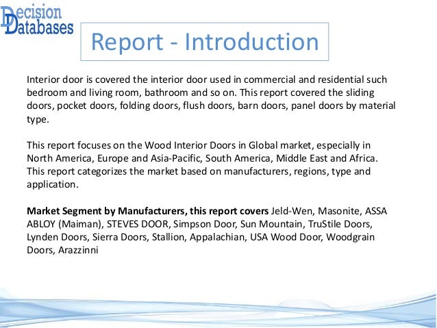 Global Wood Interior Doors Market Analysis Report 2017 2022
