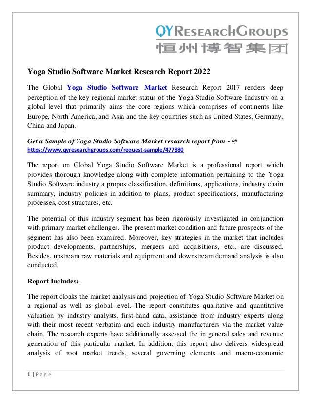 Yoga Studio Software Market Global Industry Analysis Size Share