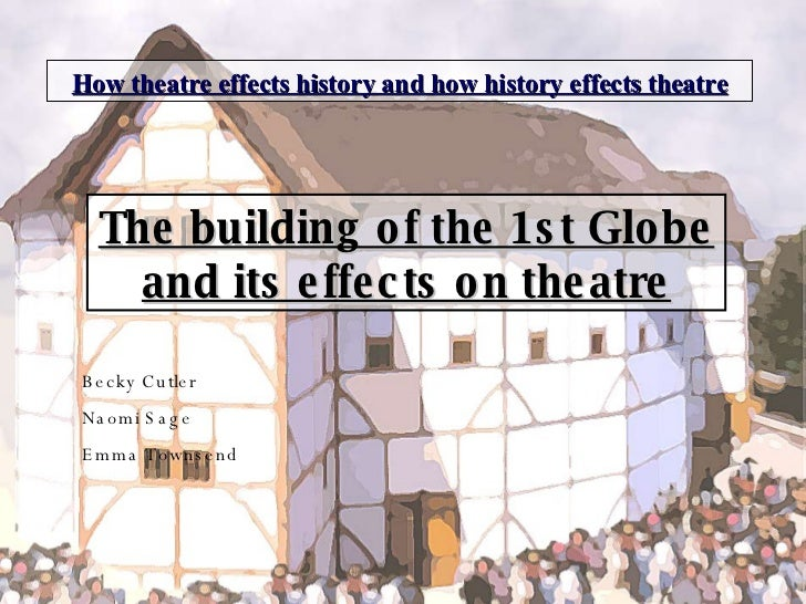 How theatre effects history and how history effects theatre The building of the 1st Globe and its effects on theatre Becky...