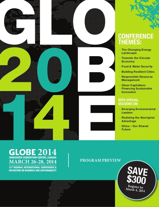Conference Themes: »» The Changing Energy Landscape »» Towards the Circular Economy »» Food & Water Security »» Building R...