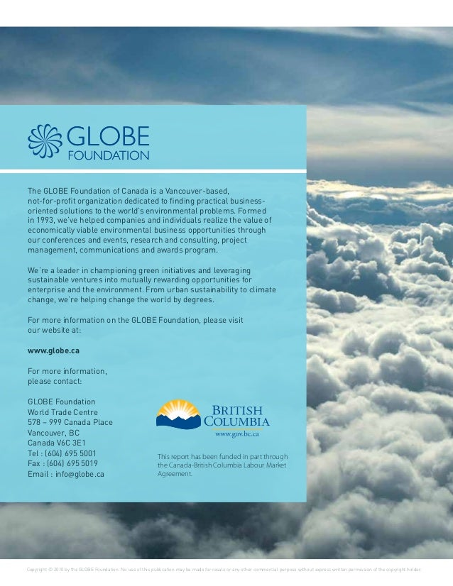 GLOBE Advisors - Careers for a Sustainable Future - A