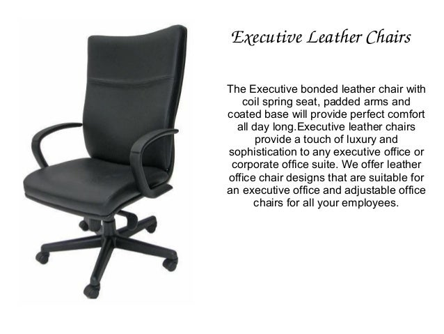 4 Executive Leather Chairs
