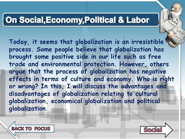 effects of globalization on the labor market Though globalization is increasing labor market integration and income inequality, policymakers should help workers adjust to a changing world rather than erecting protectionist measures.