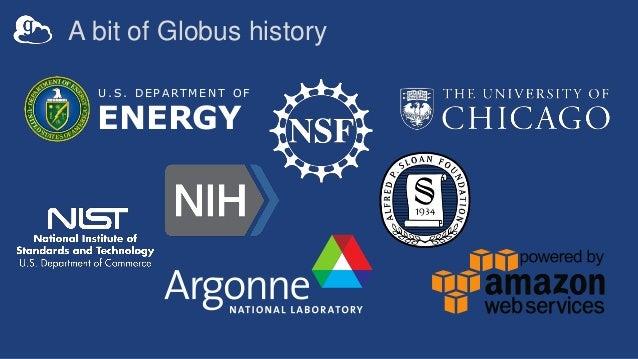 A bit of Globus history U . S . D E P A R T M E N T O F ENERGY