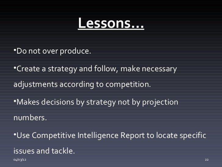 lessons learned from globus Globus ppt 1 digital lessons learned always keep an eye on your rivals actions (never relax in the game of business) investing in marketing innovation, and technical support always pays off04/03/12 20 21 lessons better employee.