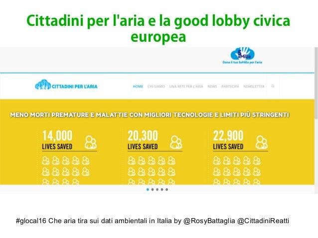 #glocal16 Che aria tira sui dati ambientali in Italia by @RosyBattaglia @CittadiniReatti Cittadini per l'aria e la good lo...