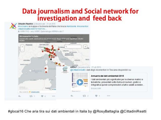 #glocal16 Che aria tira sui dati ambientali in Italia by @RosyBattaglia @CittadiniReatti Data journalism and Social networ...