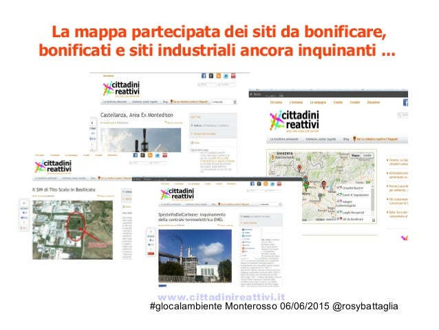 #glocalambiente Monterosso 06/06/2015 @rosybattaglia La mappa partecipata dei siti da bonificare, bonificati e siti indust...