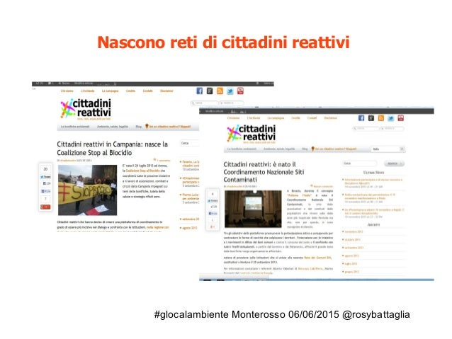 #glocalambiente Monterosso 06/06/2015 @rosybattaglia Nascono reti di cittadini reattivi