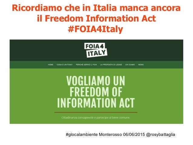 #glocalambiente Monterosso 06/06/2015 @rosybattaglia Cittadini reattivi diventa inchiesta e progetto di informazione parte...