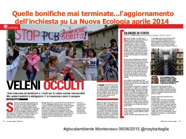 #glocalambiente Monterosso 06/06/2015 @rosybattaglia Lo stato di avanzamento delle bonifiche dei SIN aprile 2014 (dati MAT...