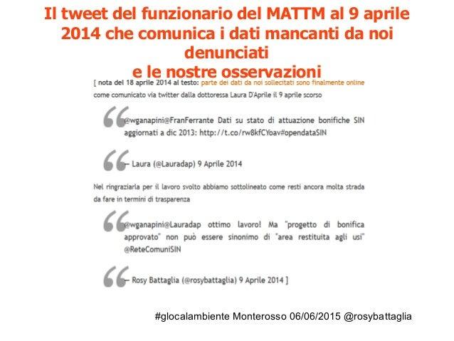 #glocalambiente Monterosso 06/06/2015 @rosybattaglia Su nòva Il Sole 24 ore luglio 2014: L'apertura dei dati può combatter...
