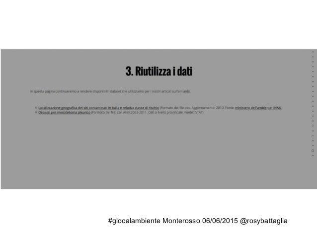 #Glocalambiente Costruire un'inchiesta [ambientale e non solo]