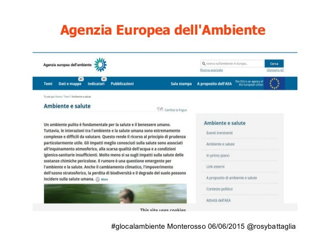 #glocalambiente Monterosso 06/06/2015 @rosybattaglia Agenzia Europea dell'Ambiente Perchè?