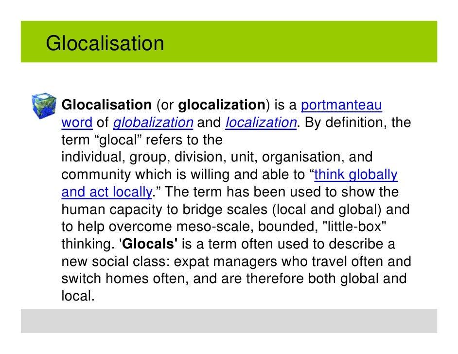 GLOCALISATION by Jessica Brown on Prezi