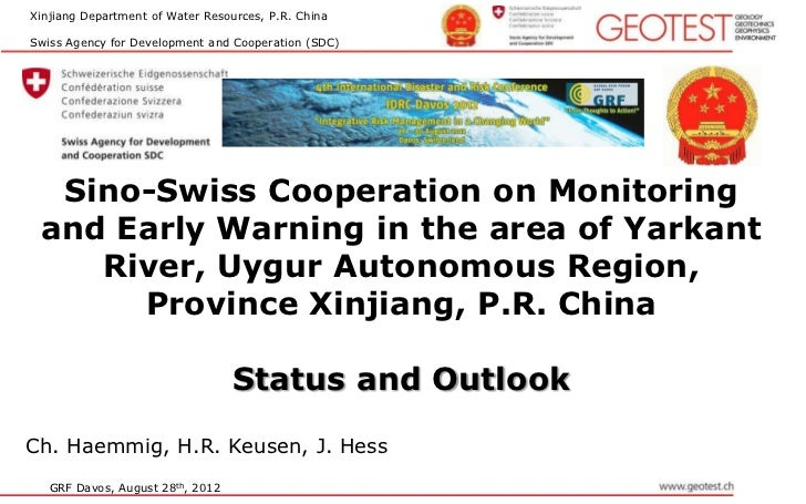 Xinjiang Department of Water Resources, P.R. ChinaSwiss Agency for Development and Cooperation (SDC)  Sino-Swiss Cooperati...