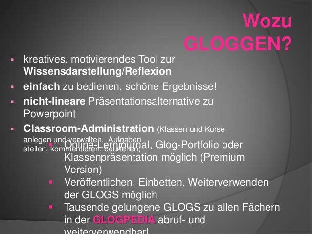 ausführliche englische Einführung in Glogster (47 Seiten Präsentation auf slideshare) Gleich los-GLOGGEN auf glogster.com ...