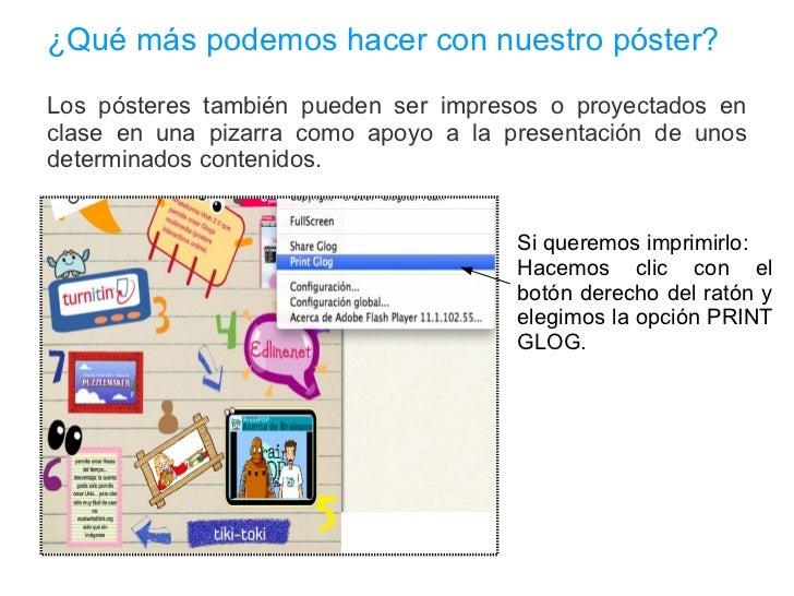 Inserción de vídeos Para insertar videos en nuestro póster digital tenemos también tres opciones: UPLOAD, LINK Y GRAB.