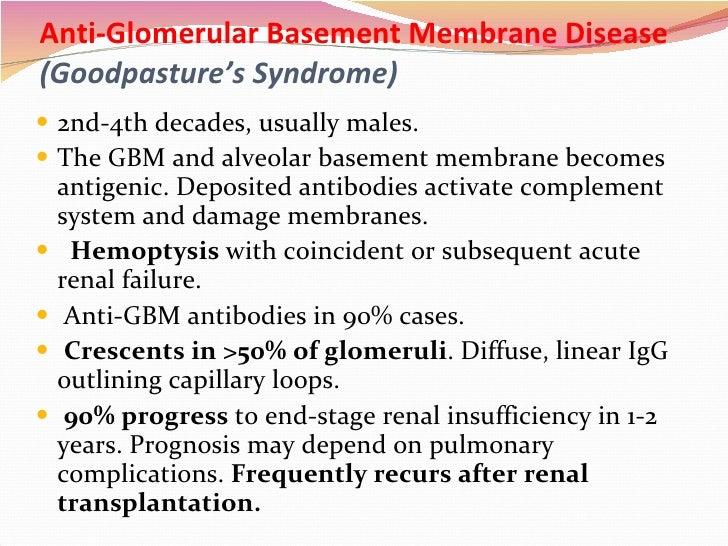 anti glomerular basement membrane disease goodpasture s syndrome ul li