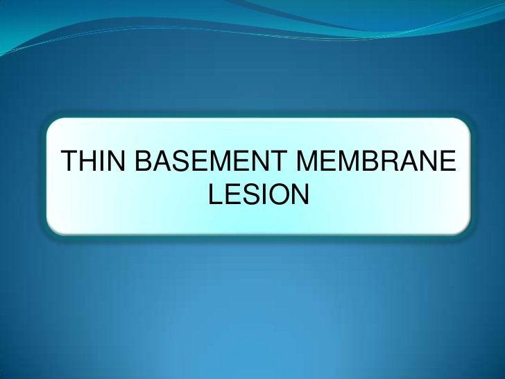 THIN BASEMENT MEMBRANE         LESION