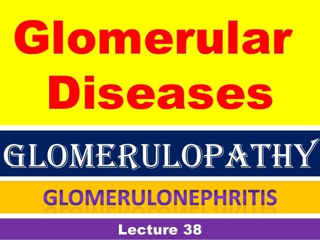 Glomerular Diseases Lecture 38 Glomerulopathy