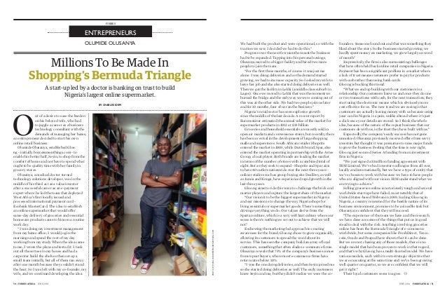 JUNE 2014 FORBES AFRICA | 5150 | FORBES AFRICA JUNE 2014 PHOTOBYPICHAWWW.MEMORIESBYPICHA.COM OLUMIDE OLUSANYA ENTREPRENEUR...