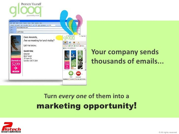 Your company sends                 thousands of emails... Turn every one of them into amarketing opportunity!             ...