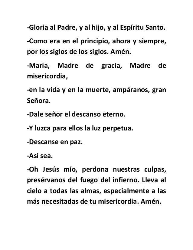 Gloria Al Padre Oracion