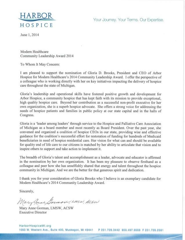 Gloria Brooks 2014 Nominee For Modern Healthcare S