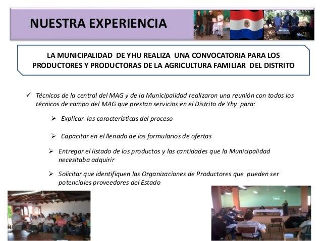 NUESTRA EXPERIENCIA LA MUNICIPALIDAD DE YHU REALIZA UNA CONVOCATORIA PARA LOS PRODUCTORES Y PRODUCTORAS DE LA AGRICULTURA ...