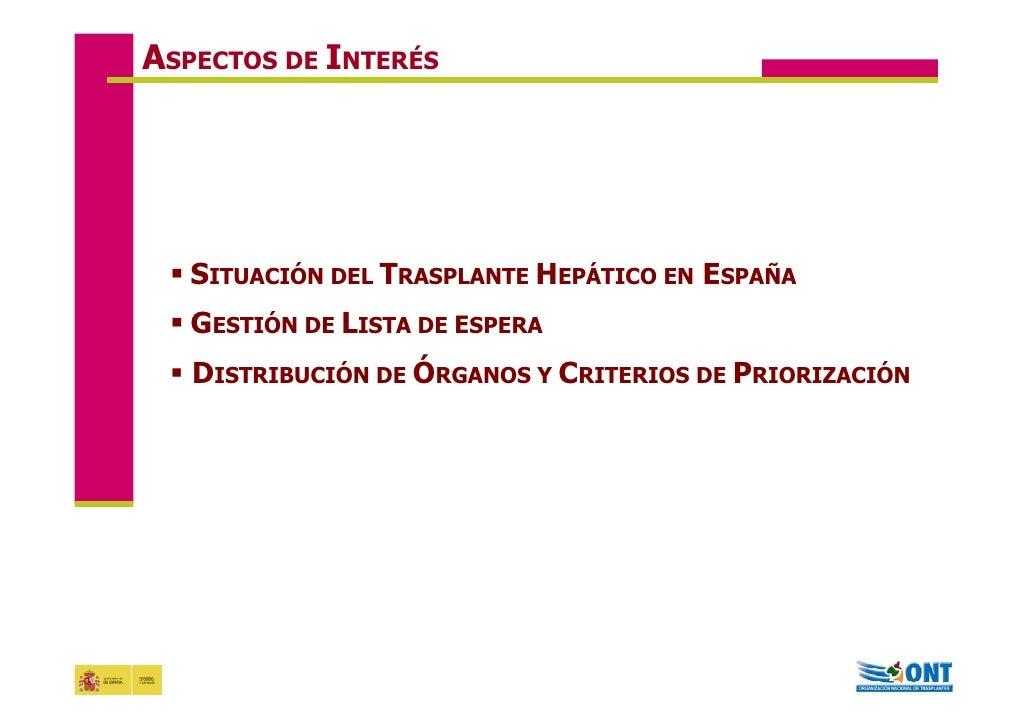 Acceso al trasplante hepático en España. 2008 Jornadas de Coinfección Gloria dela rosa  Slide 2