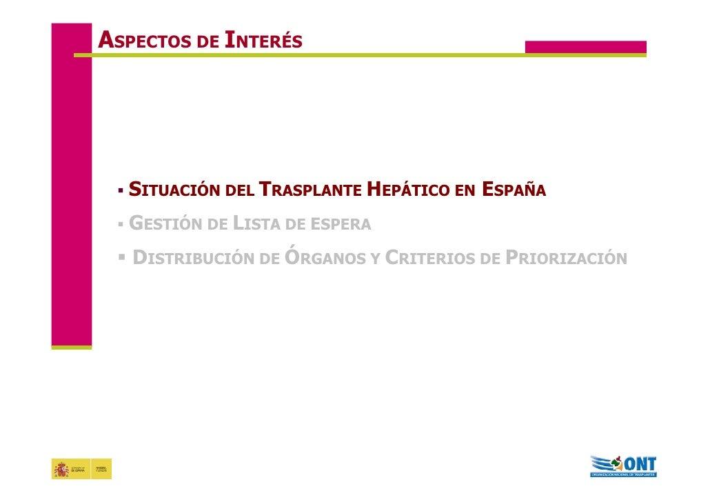 Acceso al trasplante hepático en España. 2008 Jornadas de Coinfección Gloria dela rosa  Slide 3