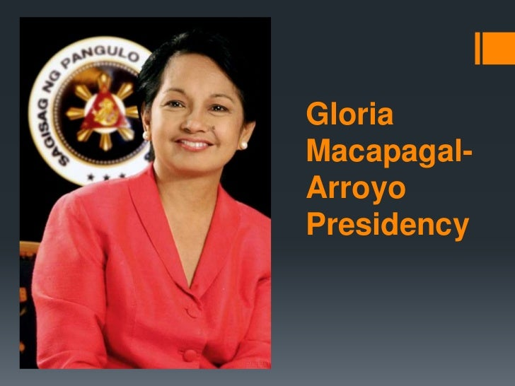 The reflection of gloria macapagal arroyo