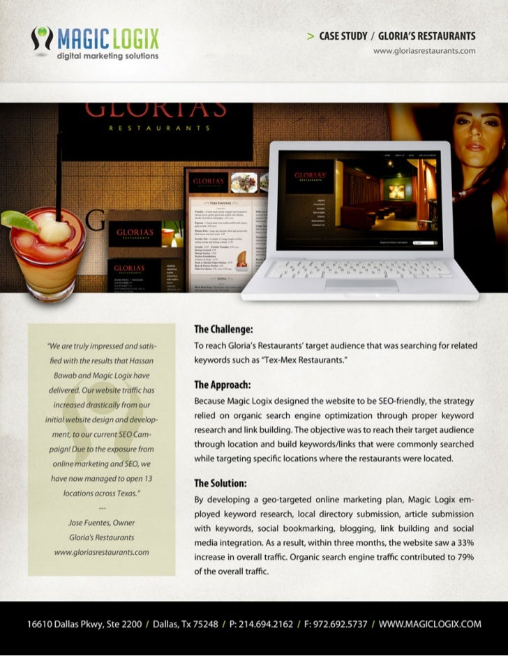 Case Study - Gloria's Restaurant