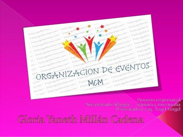 Somos una organización encargada de dar u organizar ideas para el diseño y la realización de un evento particular o profes...