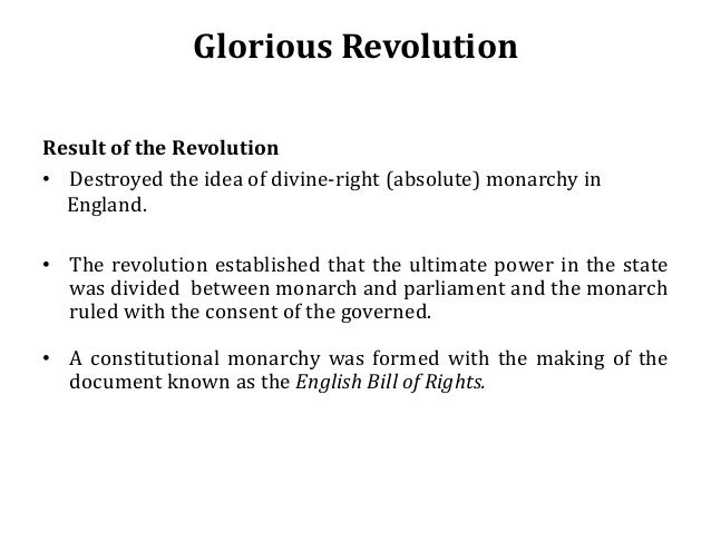 what is the glorious revolution A collection of genealogical profiles related to the glorious revolution (1688.