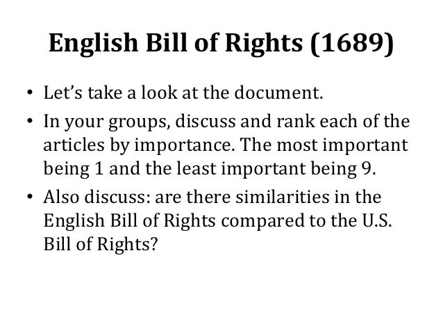 essays on the english bill of rights