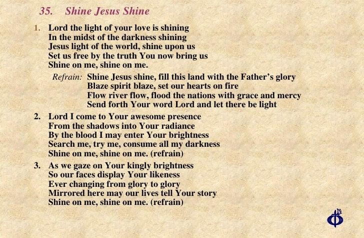 Shine A Light Chordslet Your Light Shine Sheet Music Direct