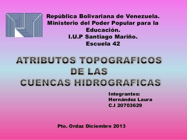 República Bolivariana de Venezuela. Ministerio del Poder Popular para la Educación. I.U.P Santiago Mariño. Escuela 42  Int...
